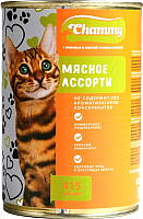 Корм для кошек Chammy Мясное ассорти в соусе (415г) -