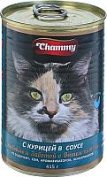 Корм для кошек Chammy С курицей в соусе (415г) -