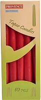 Набор свечей Белбогемия Provence 560107/41 / 37179 (10шт, красный) -
