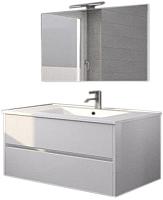 Комплект мебели для ванной Riho Porto SET 05 / FPO080DP0DP0S05 (белый) -