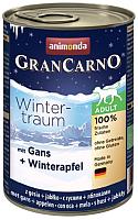 Корм для собак Animonda GranCarno Winter-traum с гусем и яблоками (400г) -