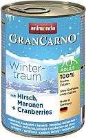 Корм для собак Animonda GranCarno Winter-traum с оленем, каштаном и клюквой (400г) -