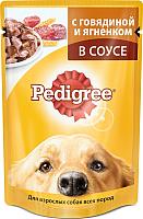 Корм для собак Pedigree Для взрослых собак всех пород с говядиной и ягненком в соусе (100г) -