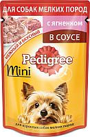 Корм для собак Pedigree Для взрослых собак мелких пород с ягненком в соусе (85г) -
