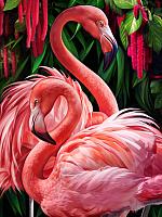 Набор алмазной вышивки Алмазная живопись Пара фламинго / АЖ-1739 -