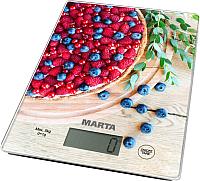 Кухонные весы Marta MT-1634 (ягодный пирог) -