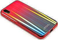 Чехол-накладка Case Aurora для Y5 (красный/синий) -