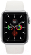 Умные часы Apple Watch Series 5 GPS 44mm / MWVD2 (серебристый алюминий/белый спортивный) -