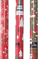Набор бумаги для оформления подарков Белбогемия Новогодней PPN000060-3 / 92037 (в ассортименте) -