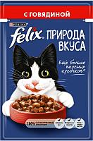 Корм для кошек Felix Nature of Taste с говядиной (85г) -