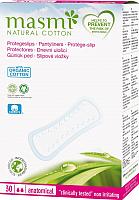 Прокладки ежедневные Masmi Natural Cotton анатомические из органического хлопка (30шт) -