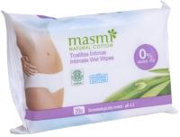 Влажные салфетки Masmi Natural Cotton для интимной гигиены (20шт) -
