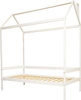 Кровать-домик Можга Р424Э (белая эмаль) -