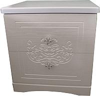 Прикроватная тумба Мебель-КМК Графиня 0379.4 (венге светлый/жемчужный) -