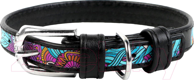 Купить Ошейник Collar, Waudog Лето 37821-1 (черный), Украина, нат. кожа
