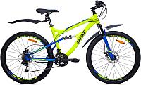 Велосипед AIST Avatar Disc 17.5 (желтый/синий) -