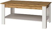 Журнальный столик Anrex Taurus (белый/дуб вотан) -