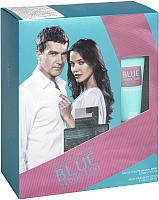 Парфюмерный набор Antonio Banderas Blue Seduction женская туалетная вода 50мл+лосьон для тела 75мл -