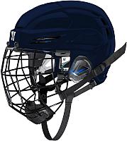 Шлем хоккейный Warrior Covert PX2 Combo Slvcage / PX2HCS6-NV-L (темно-синий) -