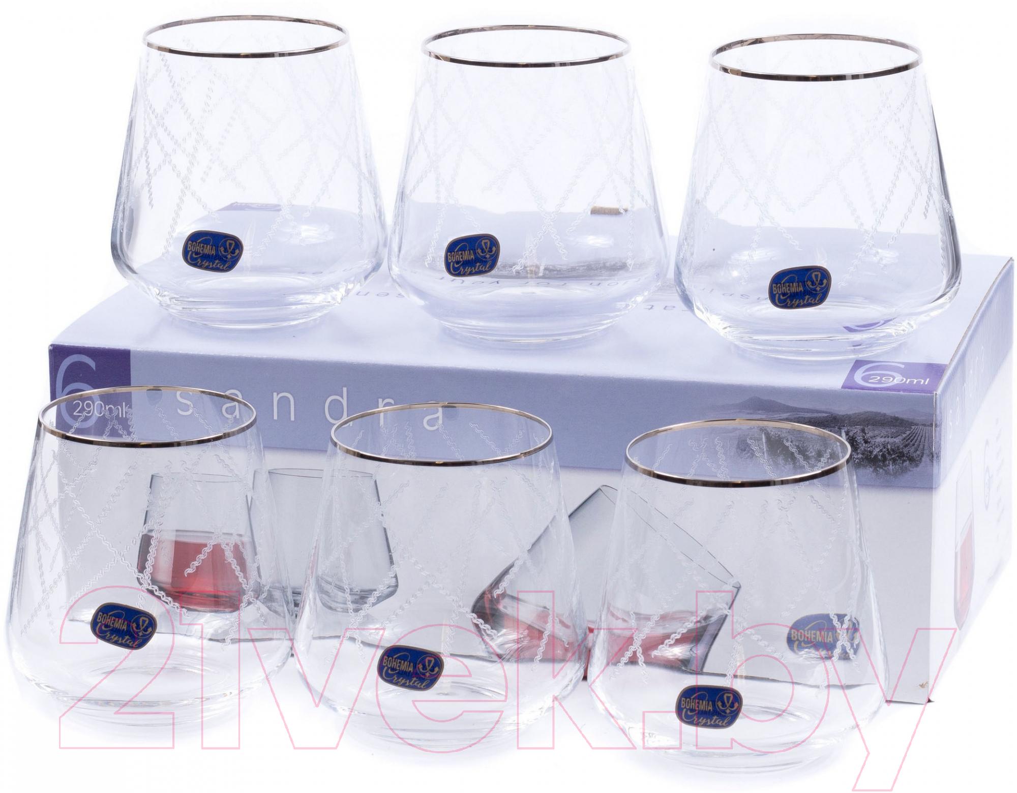 Купить Набор стаканов Bohemia, Crystal 23013/Q9107/290 (6шт), Чехия, стекло