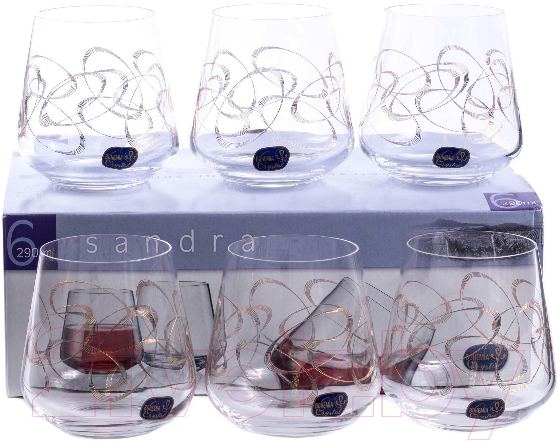 Купить Набор стаканов Bohemia, Crystal Sandra 23013/Q9203/290 (6шт), Чехия, стекло