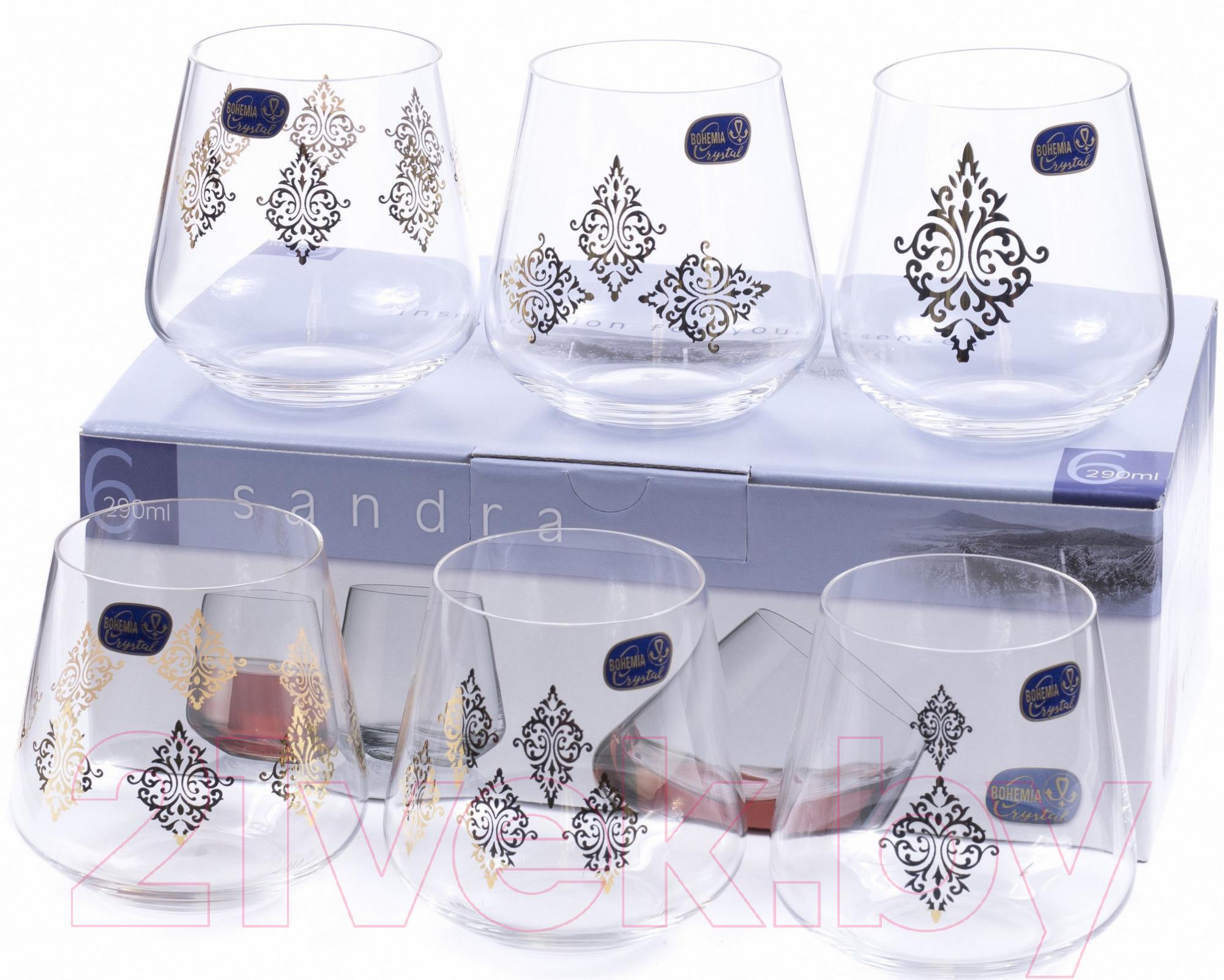 Купить Набор стаканов Bohemia, Crystal Sandra 23013/S1387/290 (6шт), Чехия, стекло