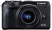Беззеркальный фотоаппарат Canon EOS M6 Mark II EF-M 15-45mm IS STM + EVF-DC2 / 3611C012 (черный) -