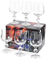 Набор бокалов для вина Bohemia Crystal Claudia 40149/230 (6шт) -