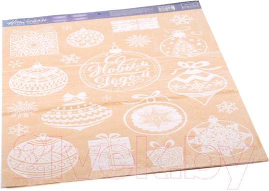 Купить Набор наклеек Белбогемия, Елочные игрушки на окно 25618292 / 91141, Китай