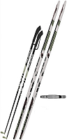 Комплект беговых лыж STC SNS Эльва механика Step 150/110 (черный/белый) -