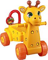 Каталка детская Альтернатива Жираф / М3892 (желтый) -