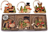 Набор ёлочных игрушек Белбогемия NY13398 / 92148 (9шт) -