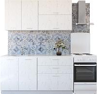 Готовая кухня Артём-Мебель Адель СН-114 без стекла МДФ 1.4м (дуб полярный) -