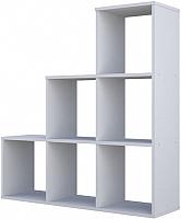 Стеллаж Polini Kids Home Smart Каскадный 6 секций (белый) -