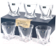 Набор бокалов для виски Bohemia Crystalite Quadro 20936/99A44/340 (6шт) -