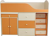 Кровать-чердак Можга Р430-КО (кремовый/оранжевый) -