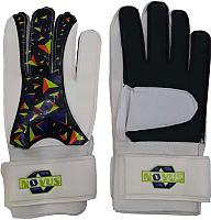 Перчатки вратарские Novus NFG-02 (M, белый/черный) -