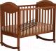 Детская кроватка Лель Камелия АБ 23.0 (орех светлый, Д 007) -
