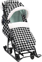 Санки-коляска Ника Детям 7-5 New (гусиная лапка/мятный) -