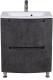 Тумба с умывальником Аква Родос HeadWay 60 / ОР0002811 (темный мрамормеб) -