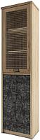 Шкаф с витриной Anrex Diesel 1V1D1S/D3 (дуб мадура/истамбул) -
