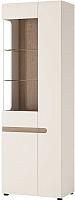 Шкаф с витриной Anrex Linate 3D/Typ 01L (белый/сонома трюфель) -