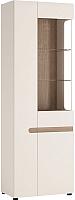 Шкаф с витриной Anrex Linate 3D/Typ 01P (белый/сонома трюфель) -