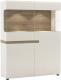 Шкаф с витриной Anrex Linate 3D-1S/Typ 33 (белый/сонома трюфель) -