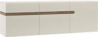 Шкаф навесной Anrex Linate 3D/Typ 67 (белый/сонома трюфель) -
