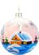 Елочная игрушка Грай Зимний дом на прозрачном Ш100-20 -