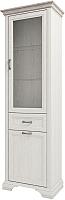 Шкаф с витриной Anrex Monako 1V1D1S (сосна винтаж/дуб анкона) -