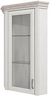 Шкаф с витриной Anrex Monako 1VU (сосна винтаж/дуб анкона) -