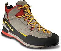 Трекинговые кроссовки La Sportiva Boulder X MID GTX 17E900304 (р-р 46, карбон/пламя) -