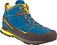 Трекинговые кроссовки La Sportiva Boulder X MID GTX 17EBY (р-р 47, синий/желтый) -